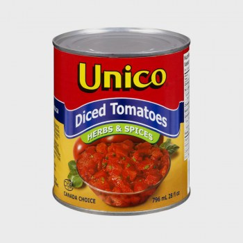 Unico Diced Tomatoes Herbs - 796ml